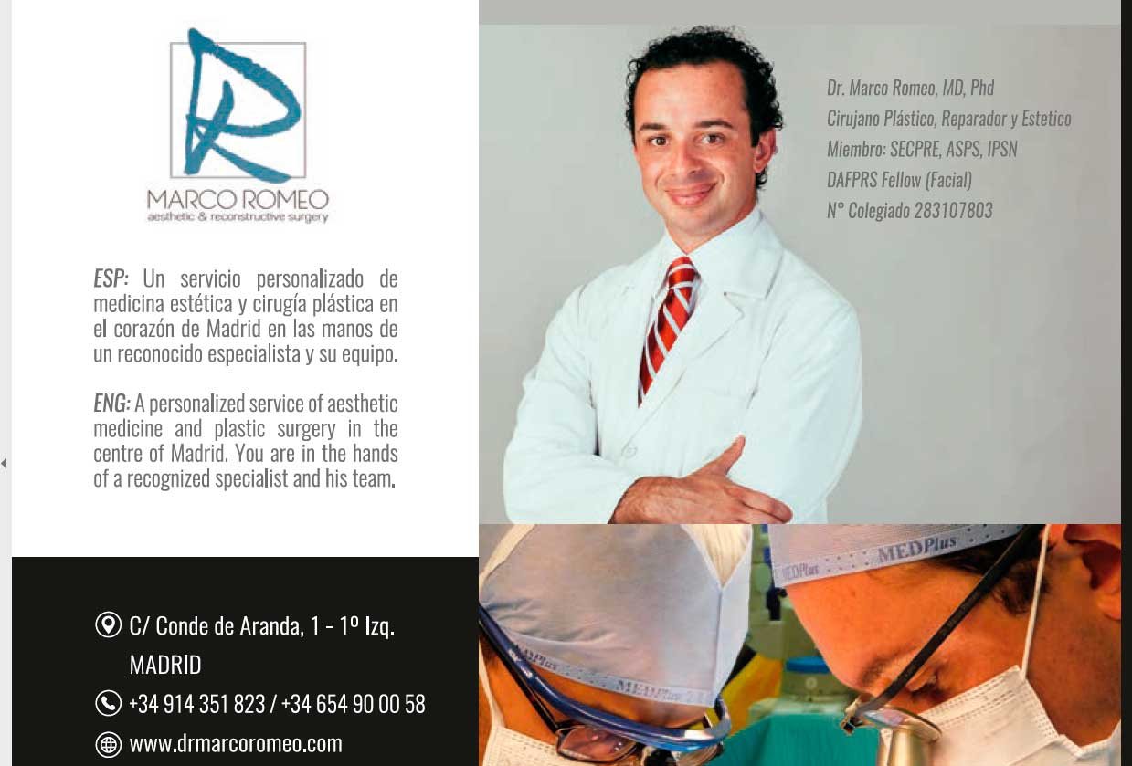 Captura Revista Luxury World Madrid - Dr Marco Romeo